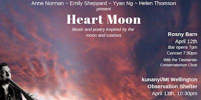 Heart Moon - kunanyi/Mt Wellington Observation Shelter