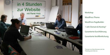 WordPress Website - in 4 Stunden im Internet - max. 2 TN Tickets