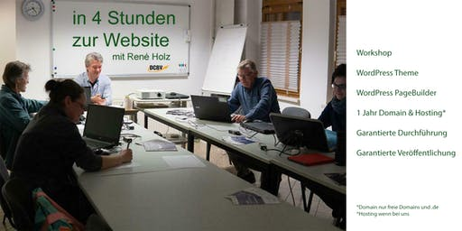 WordPress Website - in 4 Stunden im Internet - max. 2 TN