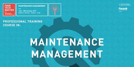 Food Tech Master - Maintenance Management tickets