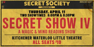 Secret Show 4 - A Night of Magic & Mind Reading