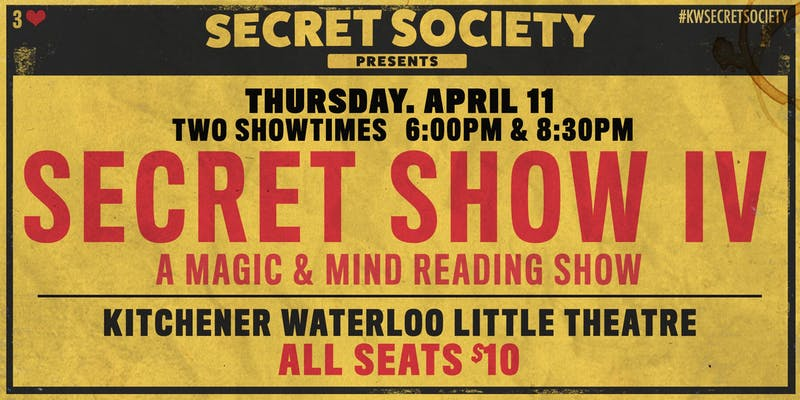 Secret Show IV | Kitchener-Waterloo Little Theatre
