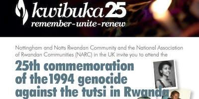 KWIBUKA 25: the  25th National Commemoration of 1994 Genocide agaisnt tutsi