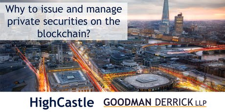 Why to issue and manage private securities on the blockchain? tickets