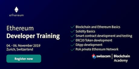 Ethereum Developer Training (November) tickets