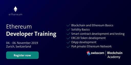 Ethereum Developer Training (November)