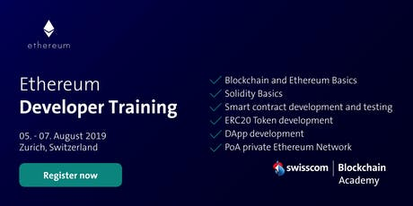 Ethereum Developer Training (August) tickets