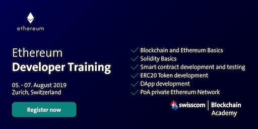 Ethereum Developer Training (August)