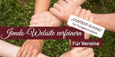 """Content is King"" - Tagesseminar Jimdo-Website verfeinern Tickets"