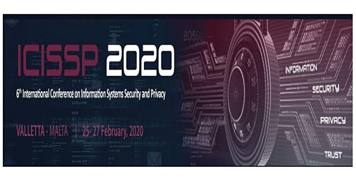 ICISSP 2020, 6th Int. Conf. on Information Systems Security and Privacy (INS)