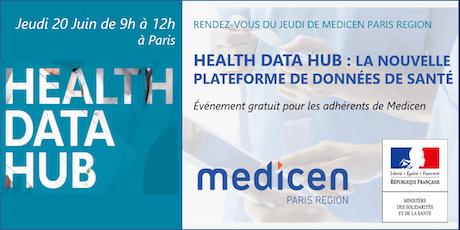 RDV du Jeudi : Health Data Hub - La nouvelle plateforme de données de santé billets