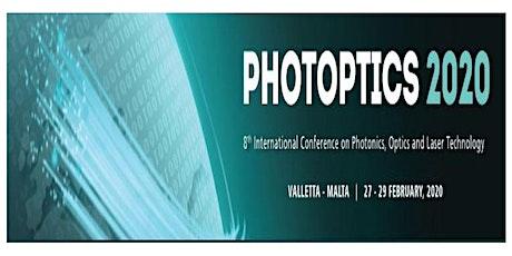 PHOTOPTICS 2020, 8th Int. Conf. on Photonics, Optics and Laser Technology (INS) tickets
