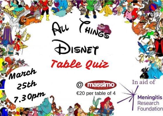 Disney Themed Table Quiz