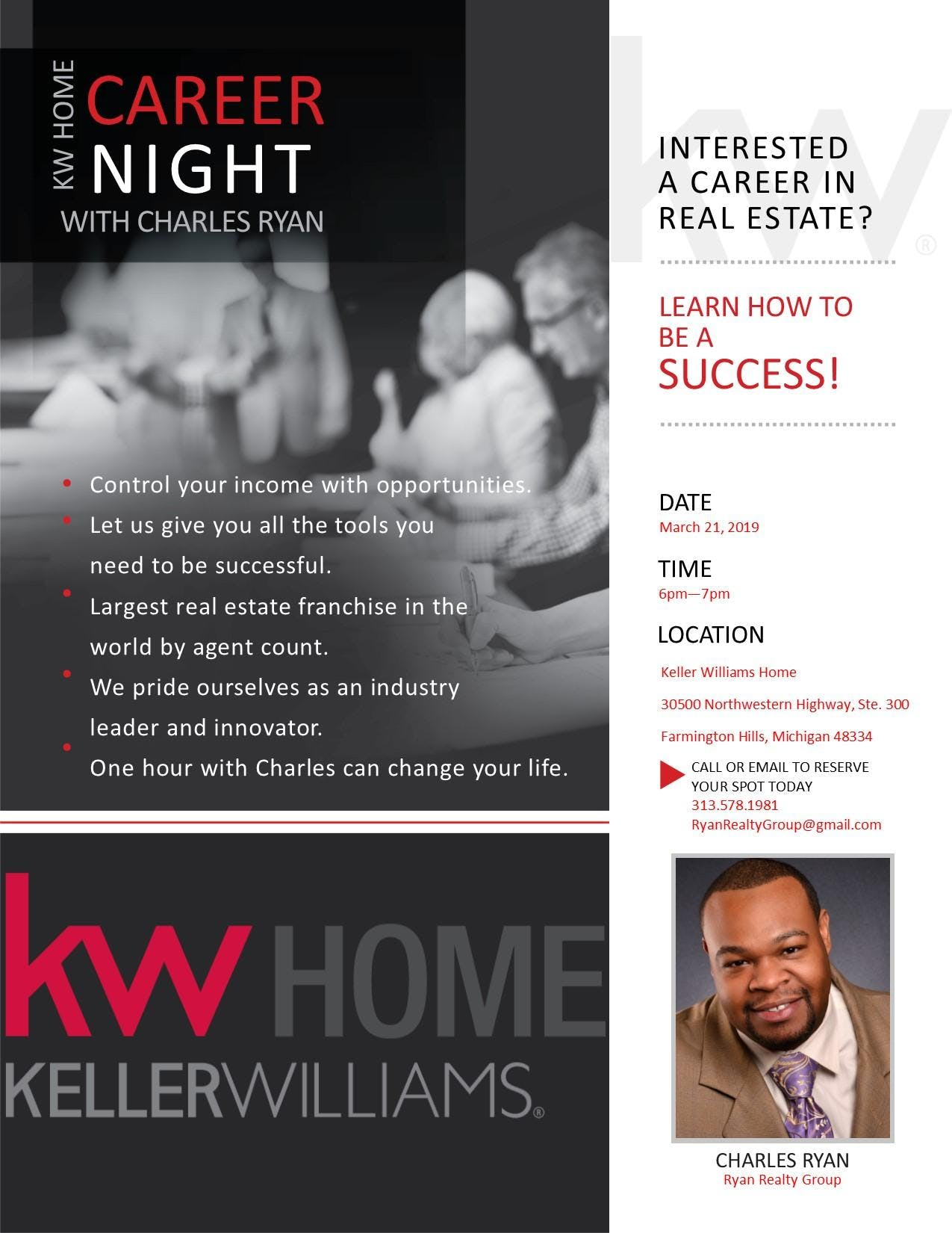 KW Home Career Night with Charles Ryan