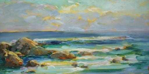 Seashore Painting Studies: Sand, Surf, and Sea Life