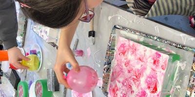 Balloon Smash: A Liquid Glass Pouring Medium Workshop at The Tett