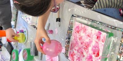 Balloon Smash: A Liquid Glass Pouring MediumWorkshop at The Tett