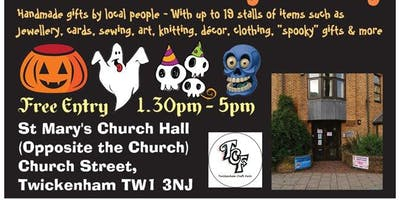 TCF Handmade HALLOWEEN Gift Fair - Saturday 26th October - Twickenham