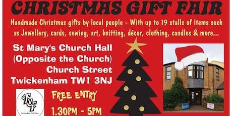 TCF Handmade CHRISTMAS Gift Fair - Saturday 7th December 2019 - Twickenham tickets