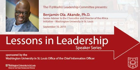 Lessons in Leadership Speaker Series - Sept. 10, 2019 tickets