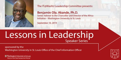 Lessons in Leadership Speaker Series - Sept. 10, 2019