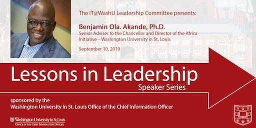Lessons in Leadership Speaker Series - Sept. 10, 2019
