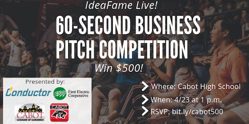 IdeaFame Live Pitch Competition in Cabot, AR!