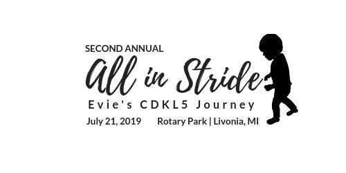 All in Stride - Evie's CDKL5 Journey One Mile Walk