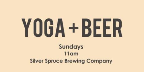 Yoga + Beer at Silver Spruce! tickets
