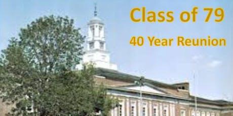 40 Year Class Reunion Brush High Class of 79 tickets