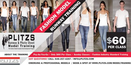 PROFESSIONAL FASHION MODEL RUNWAY TRAINING IN NEW YORK CITY - AFFORDABLE PAY-AS-YOU-GO tickets