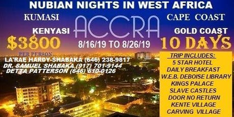 NUBIAN NIGHTS IN GHANA tickets