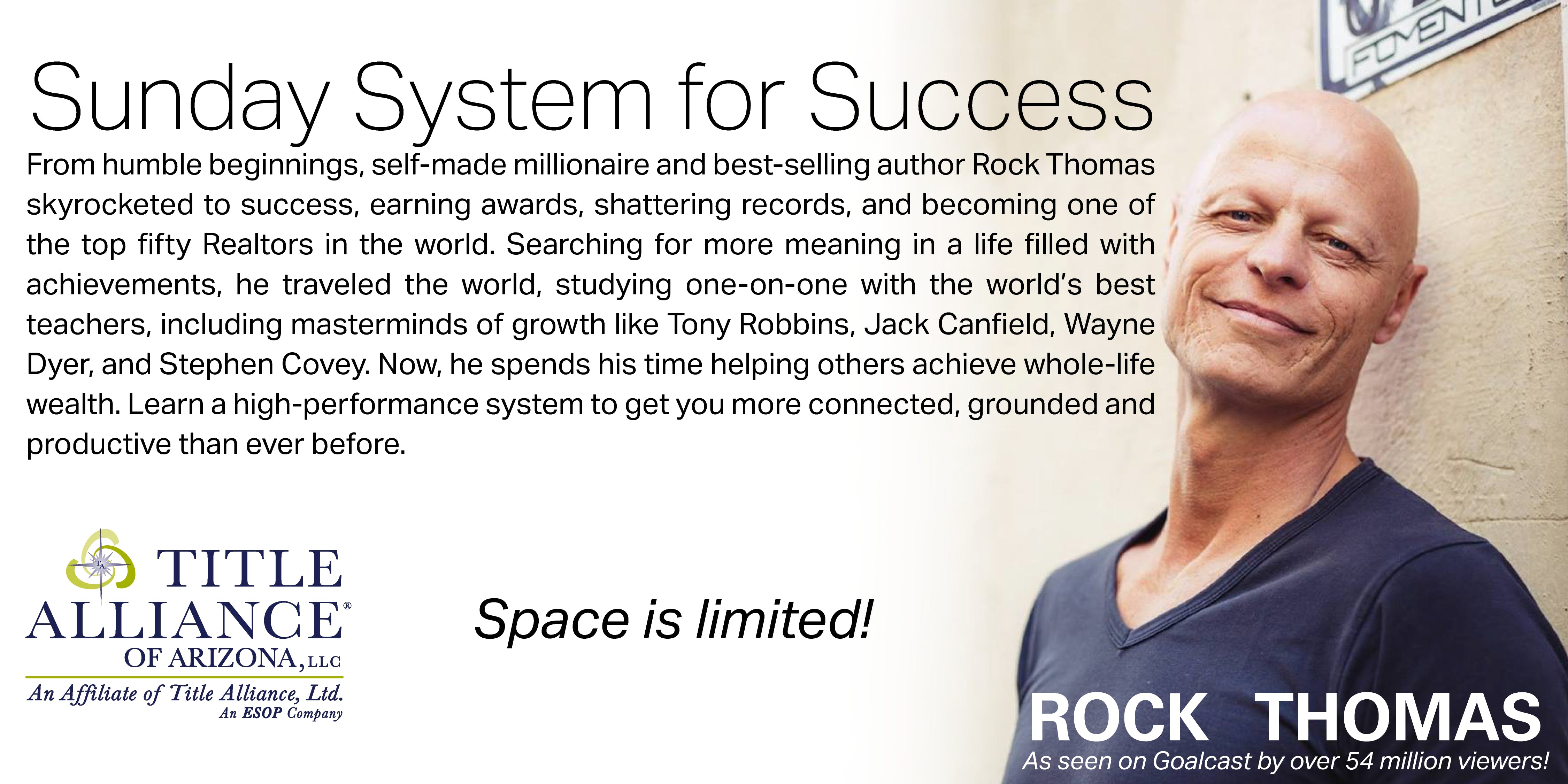 Rock Thomas Sunday System for Success