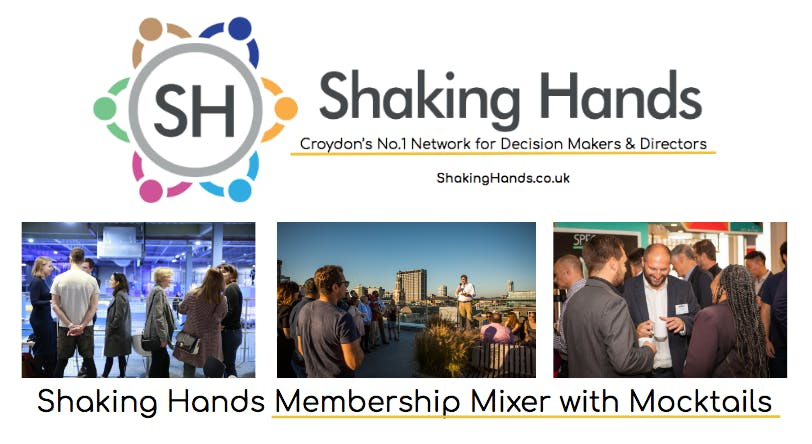 Shaking Hands Membership Mixer with Mocktails