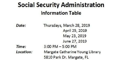Social Security Information Table tickets