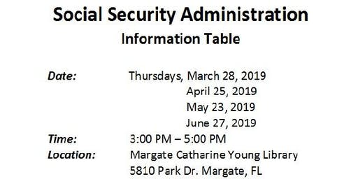 Social Security Information Table
