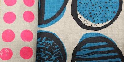 Fabric printing workshop with Emma Purdie