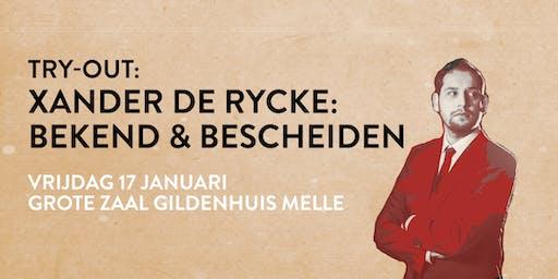 Xander De Rycke - Try Out door Comic Sense