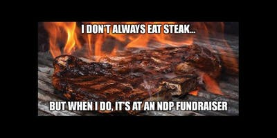 Elphinstone NDP Steak Night