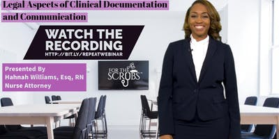 Webinar - Legal Aspects of Nursing Documentation