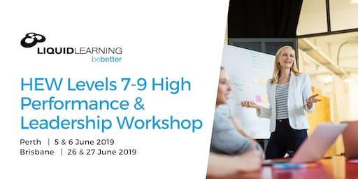 HEW Levels 7-9 High Performance & Leadership Workshop