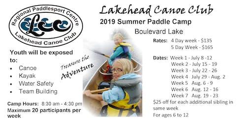 Paddle Camp 2019 Week 1 (July 8 - 12)