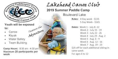 Paddle Camp 2019 Week 5 (Aug. 6 - 9)