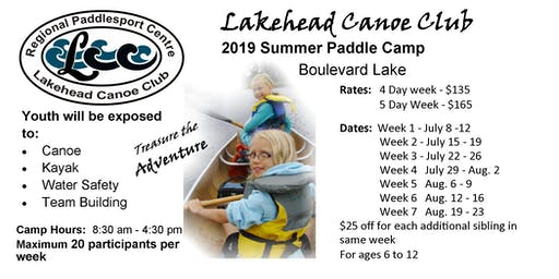 Paddle Camp 2019 Week 6 (Aug. 12 - 16)