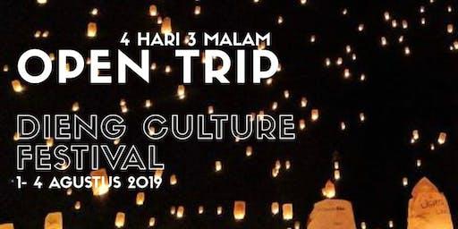 OPEN TRIP DIENG CULTURE FESTIVAL 1-4 AGUSTUS 2019