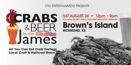Crabs & Beer by the James tickets