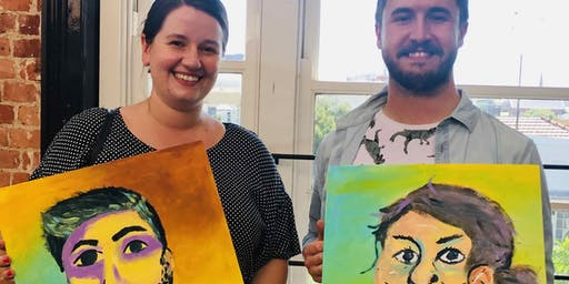 Paint your Partner - Dine in Painting Class in Doncaster