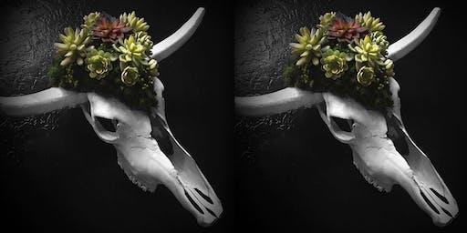 Creative Faux Succulents Workshop- Succulent Skull!