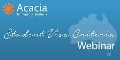 Student Visa Criteria Webinar