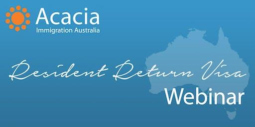 Resident Return Visa Webinar